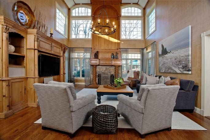 Before and after living rooms interiors by just design for Interior designers westchester ny