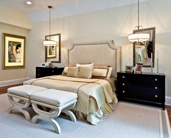 Master Bedroom interior design Old Westbury LI NY 2 After photo