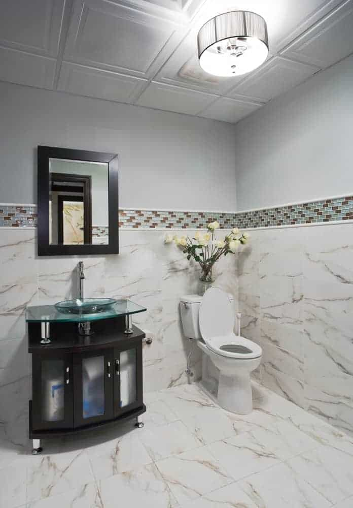 commerical interior design LI NY Spa restroom