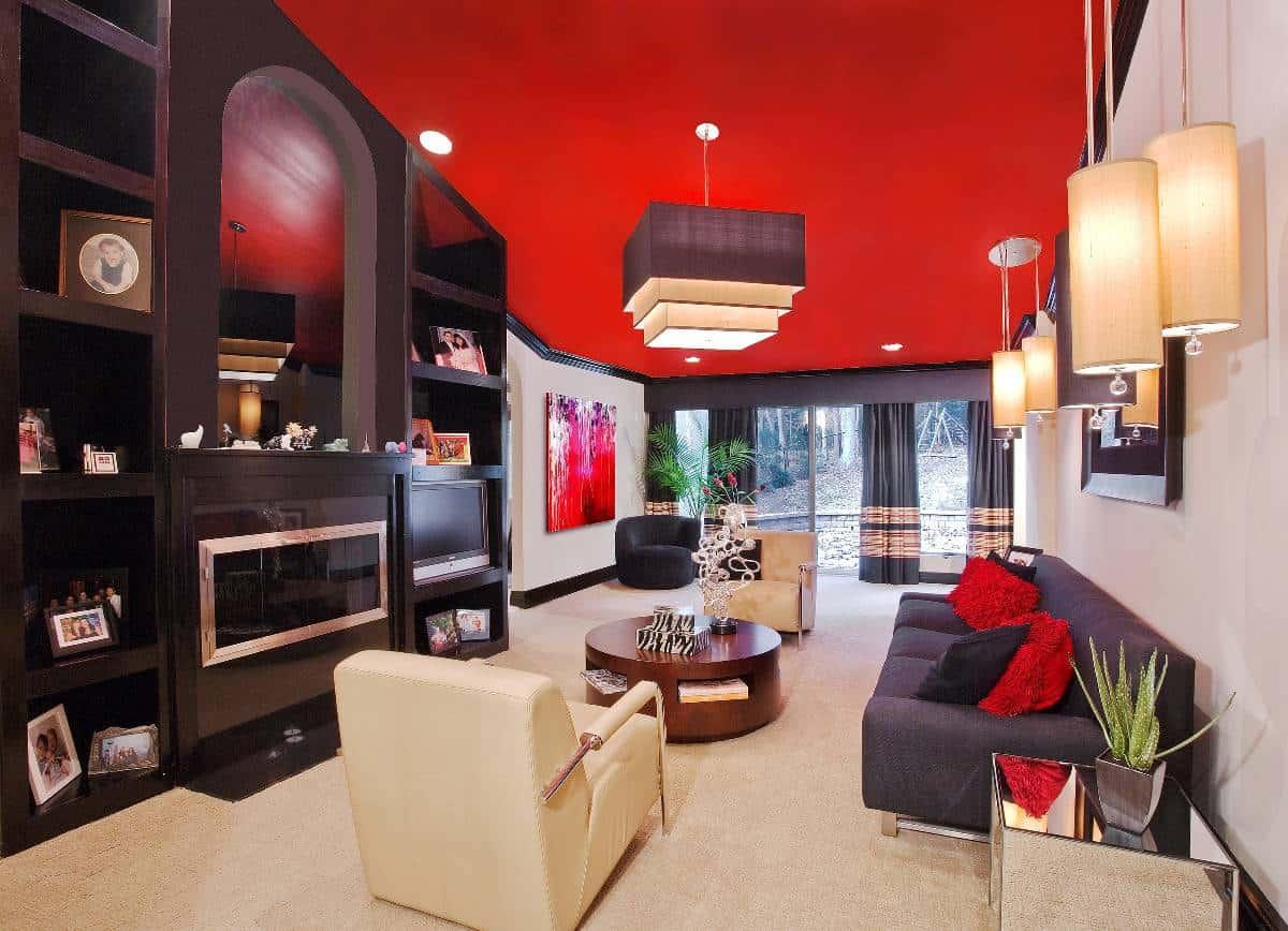 interior-design-living-room-red-paint-ceiling