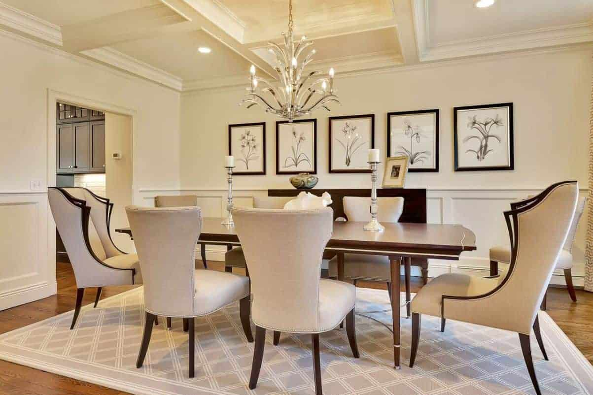 High end furniture home interior design for Dining room end chairs