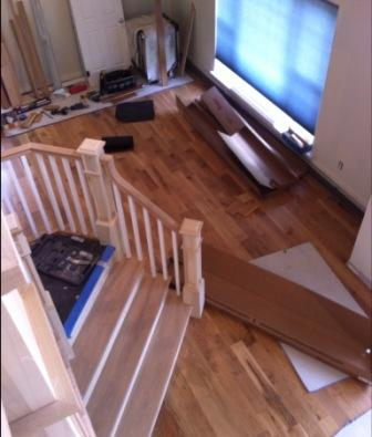 New Home Construction Staircase Steps