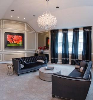 Residential Interior Design: Living Room Brookville, Long Island, NY