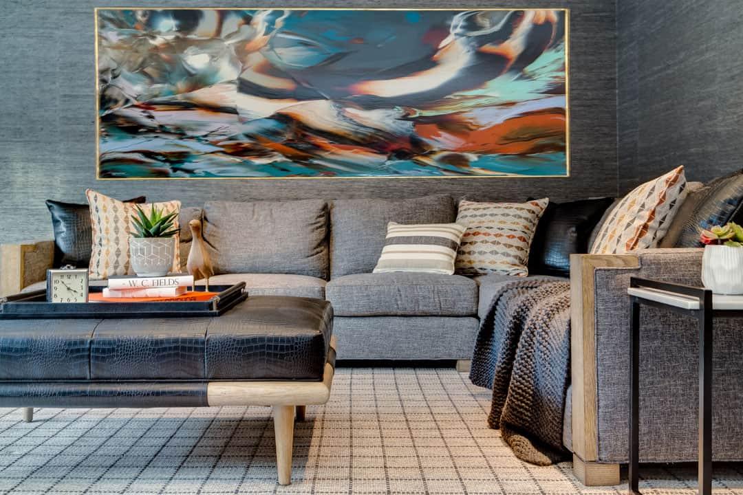 Comfortable living room interior design LI NY
