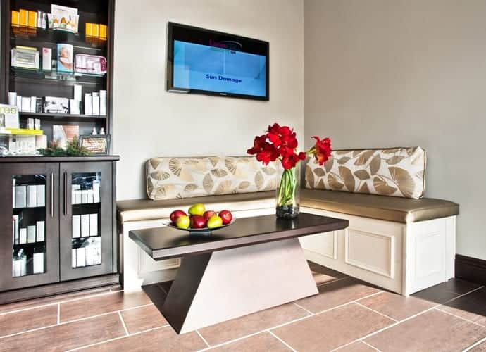 commerical interior design LI NY Spa waiting area