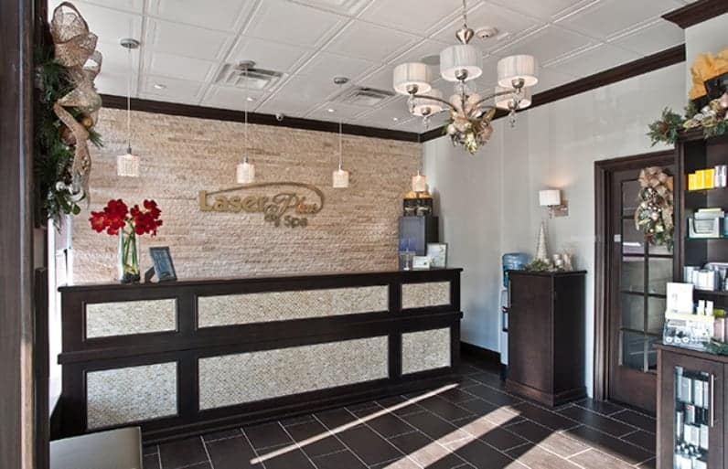 Charming Commerical Interior Design Reception Lobby LI NY Spa
