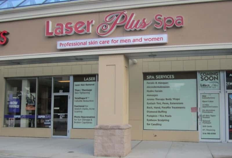 commerical interior retail stripmall design Long Island NY laserplus spa