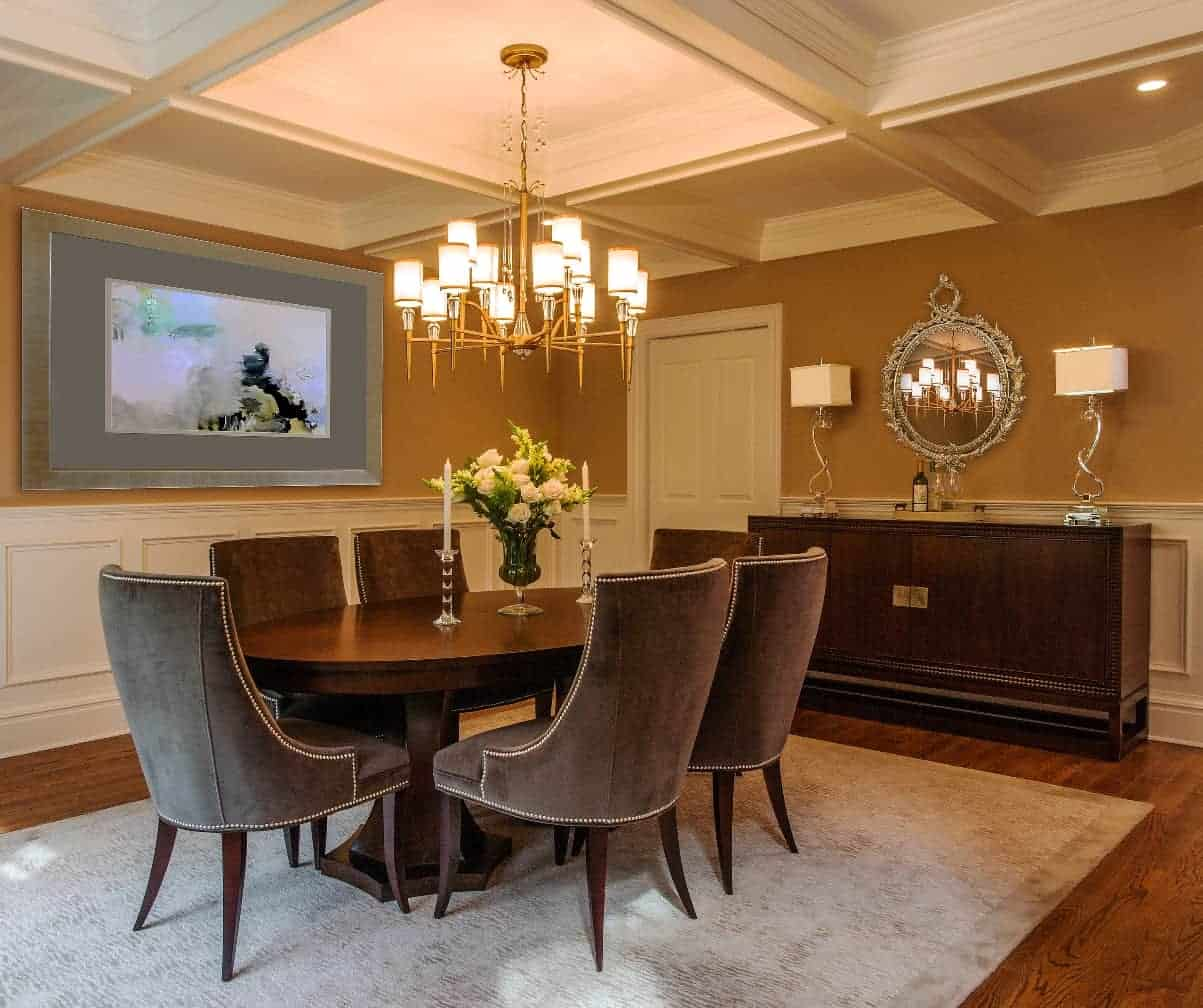 Classic, refined, modern Dining room design