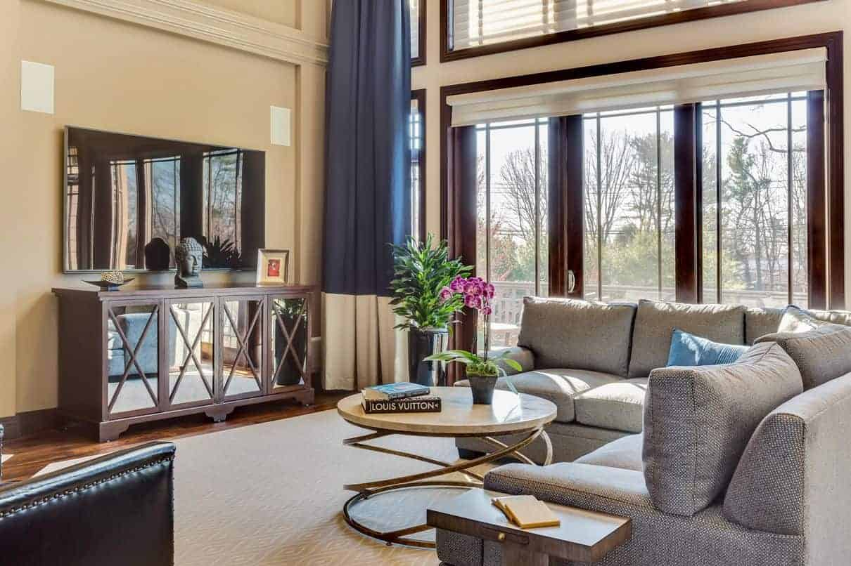 Family Room Interior Design In Hamlet Condominiums, Jericho NY By Robyn B  Of Interiors By