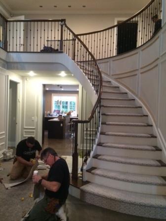 stair runner carpet interior design long island NY