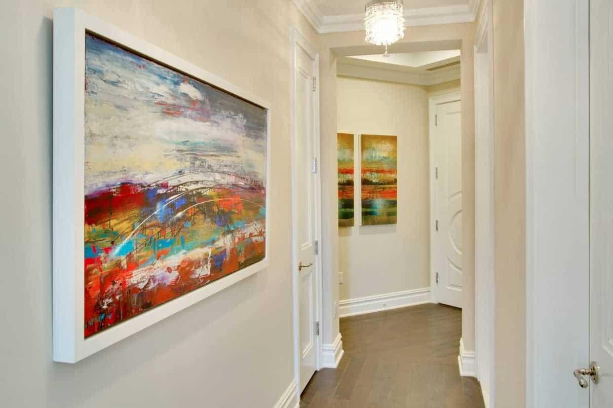 Custom art in Ritz-Carlton Residence interior design, Manhasset NY