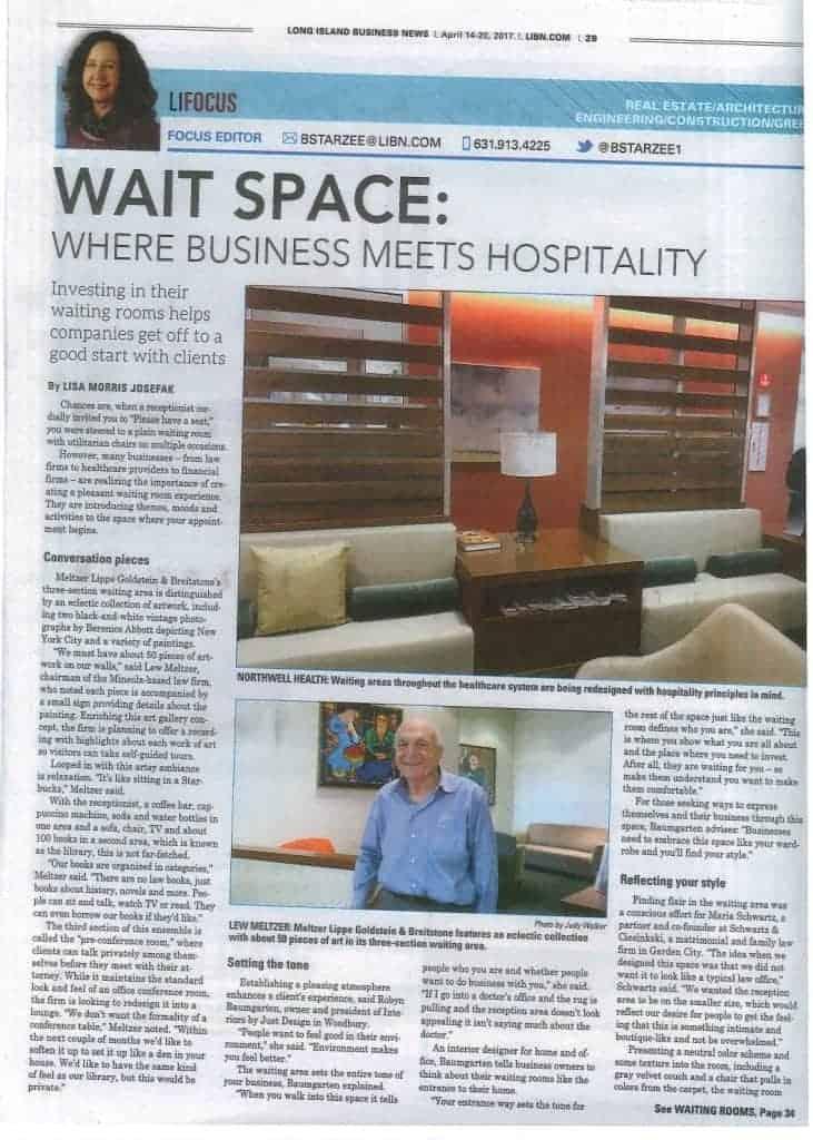 Long Island Business News interior design waiting rooms