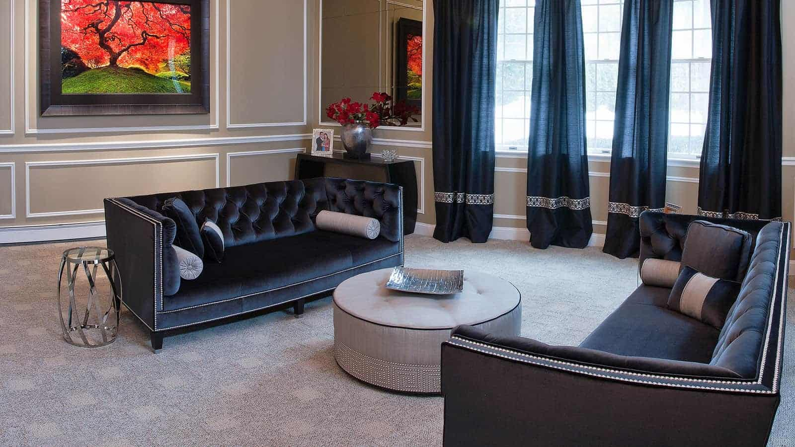Unique, yet classic living room design Robyn B, Interiors By Just Design, Woodbury NY