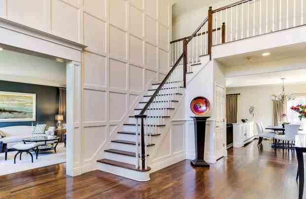 Northport foyer entry interior design photo AFTER