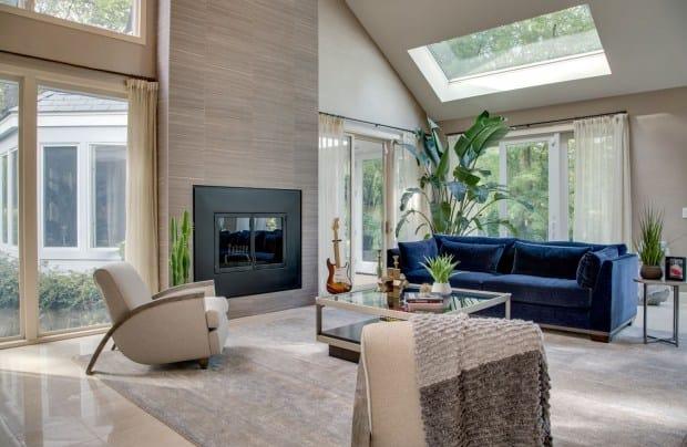 Old Brookville living room interior design 11 AFTER photo