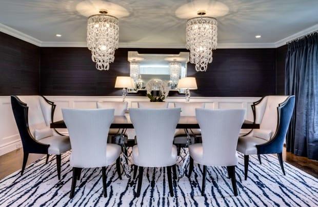Dining room interior design photo AFTER Old Westbury LI