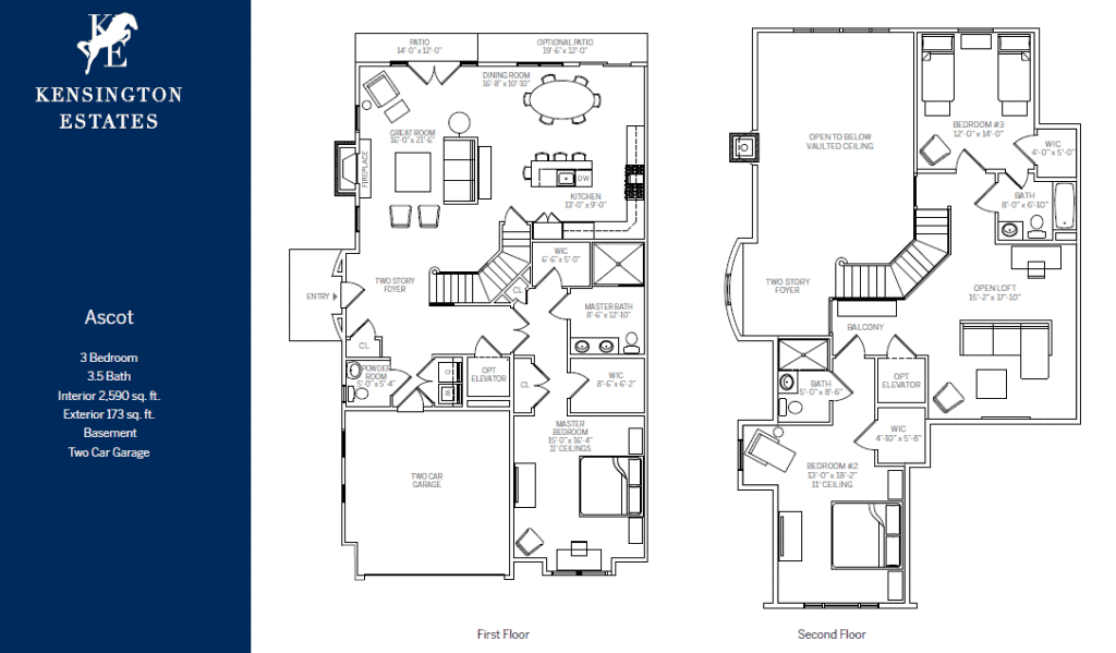 Kensington Estates Woodbury floor plans - ASCOT